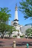 Indiana Soldiers ' y el monumento de los marineros Imágenes de archivo libres de regalías