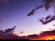 Indiana solnedgångar Arkivbilder
