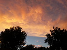 Indiana-Sonnenuntergang Lizenzfreie Stockfotografie