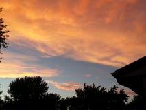 Indiana-Sonnenuntergang Stockbild