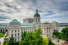 Indiana stanu dom w Indianapolis, Indiana obrazy royalty free