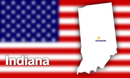 Indiana state contour Stock Photography