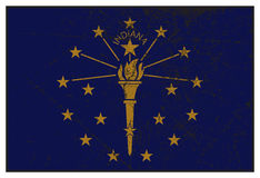 Indiana State Flag Grunged Stock Images