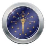 Indiana State Flag Silver Icon Photos stock