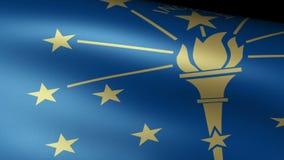 Indiana State Flag Waving ilustración del vector