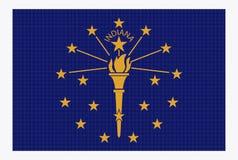 Indiana State Flag White Dots Photos libres de droits