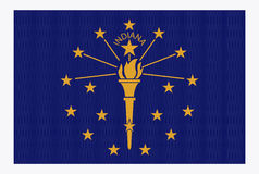 Indiana State Flag White Dots Royalty Free Stock Photos