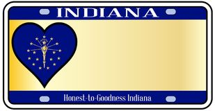 Indiana State License Plate Photographie stock libre de droits