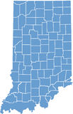 Indiana State map  by counties Royalty Free Stock Images