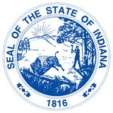 Indiana State Seal illustration stock