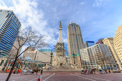 The Indiana State Soldiers and Sailors Monument. INDIANAPOLIS, INDIANA, April 14, 2015: The Indiana State Soldiers and Sailors Monument is a 284 ft 6 in (86.72 m Royalty Free Stock Photography