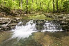 Indiana strumień z siklawą Obrazy Royalty Free