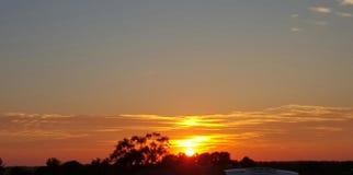 Indiana Summer Sunset immagini stock