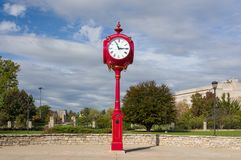 Indiana University Landmark Campus Clock Foto de archivo libre de regalías