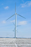Indiana Wind Turbines all in a row 2. Indiana Wind Turbines all in a row Royalty Free Stock Photo