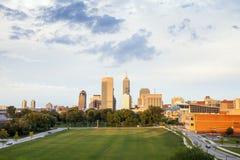 Indianapolis śródmieście, Indiana, usa obraz royalty free