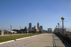 Indianapolis. Skyline of Indianapolis, IN. View from across the White River Royalty Free Stock Photo