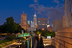 Indianapolis. Image of downtown Indianapolis at twilight