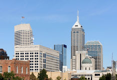 Indianapolis. A view of the skyline of Indianapolis, Indiana royalty free stock photo
