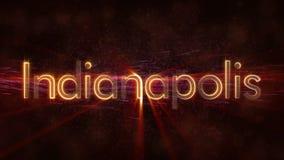 Indianapolis - animazione di ciclaggio brillante del testo di nome della città royalty illustrazione gratis