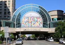 :Indianapolis Artsgarden in Circle Centre Mall royalty free stock images