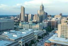 Indianapolis céntrica fotos de archivo libres de regalías