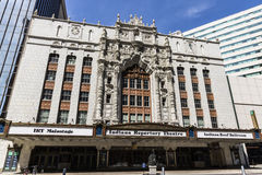 Indianapolis - cerca do abril de 2017: Fachada de Indiana Repertory Theatre mim Imagem de Stock Royalty Free