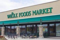 Indianapolis - cerca do abril de 2016: Mercado de Whole Foods mim fotos de stock royalty free
