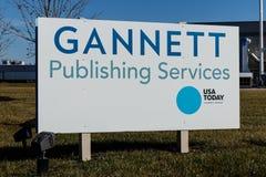 Indianapolis - cerca do janeiro de 2019: Serviços de publicação de Gannett e facilidade imprimindo comercial para USA Today mim foto de stock