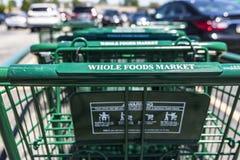 Indianapolis - cerca do julho de 2017: Mercado de Whole Foods As Amazonas anunciaram um acordo comprar Whole Foods para $13 7 bil Imagens de Stock