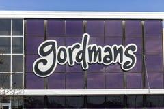 Indianapolis - cerca do novembro de 2016: Lugar da alameda de tira do retalho de Gordmans Gordmans é uma corrente dos armazéns mi Imagens de Stock Royalty Free