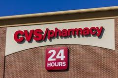 Indianapolis - cerca do setembro de 2016: Lugar do retalho da farmácia de CVS CVS é a corrente a maior da farmácia nos E.U. IV Imagens de Stock