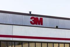 Indianapolis - cerca do setembro de 2016: 3M Plant, uma facilidade pessoal da divisão da segurança que fabrique a proteção de aud Imagem de Stock