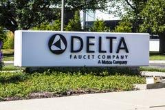 Indianapolis - circa agosto de 2016: Jefaturas corporativas de Delta Faucet Company I Fotografía de archivo libre de regalías