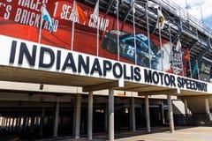 Indianapolis - circa agosto 2018: Entrata del portone 2 di Indianapolis Motor Speedway L'IMS ospita la corsa automatica di Indy 5 immagini stock