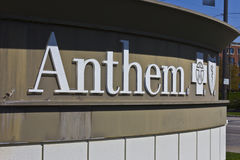 Indianapolis - Circa April 2016: Anthem World Headquarters. Anthem is a Trusted Health Insurance Plan Provider VI. Anthem World Headquarters. Anthem is a Trusted royalty free stock photos