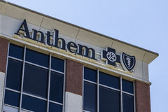 Indianapolis - Circa April 2016:  Anthem World Headquarters. Anthem is a Trusted Health Insurance Plan Provider VII Stock Images