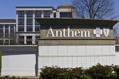 Indianapolis - Circa April 2016: Anthem World Headquarters. Anthem is a Trusted Health Insurance Plan Provider VIII. Anthem World Headquarters. Anthem is a stock photography