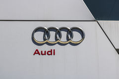 Indianapolis - Circa April 2017: Audi Automobile and SUV luxury car dealership. Audi is a member of the Volkswagen Group IV Stock Image