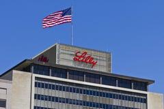 Indianapolis - Circa April 2016: De Wereldhoofdkwartier VII van Eli Lilly en van het Bedrijf Stock Afbeelding