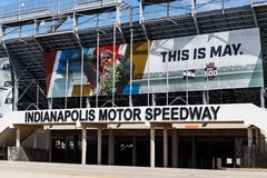 Gate Two Entrance at Indianapolis Motor Speedway. IMS Prepares for the 103rd Running of the Indy 500 III royalty free stock photos