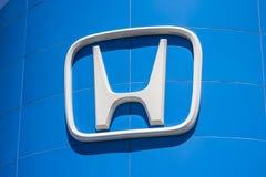 Indianapolis - Circa April 2017: Honda Motor Co. Logo and Sign. Honda Manufactures Among the Most Reliable Cars in the World V. Honda Motor Co. Logo and Sign Royalty Free Stock Image