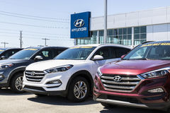 Indianapolis - Circa April 2017: Hyundai Motor Company Dealership. Hyundai is a South Korean Automotive Manufacturer IX. Hyundai Motor Company Dealership Stock Photos