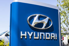 Indianapolis - Circa April 2017: Hyundai Motor Company Dealership. Hyundai is a South Korean Automotive Manufacturer VII Stock Photography