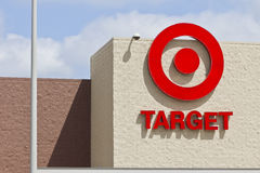 Indianapolis - Circa April 2016: Target Retail Store I. Indianapolis - Circa April 2016: Target Retail Store. Target Sells Home Goods, Clothing and Electronics I royalty free stock photos