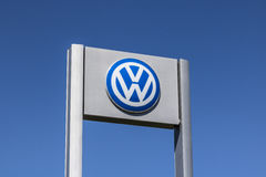 Indianapolis - Circa April 2017: Volkswagen Cars and SUV Dealership. VW is Among the World`s Largest Car Manufacturers VII Royalty Free Stock Image