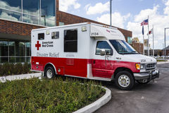 Indianapolis - Circa August 2016: American Red Cross Disaster Relief Van II Royalty Free Stock Photos