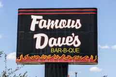 Indianapolis - Circa August 2017: Famous Dave`s Bar-B-Que Restaurant location. Famous Daves was listed on the NASDAQ in 1996 I Royalty Free Stock Photography