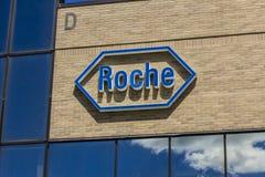 Indianapolis - Circa August 2016: Roche Diagnostics U.S. Headquarters. Roche Diagnostics is a Global Leader in Healthcare I Stock Images