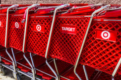 Indianapolis - Circa August 2016: Target Retail Store Baskets. Target Sells Home Goods, Clothing and Electronics VI. Target Retail Store Baskets. Target Sells stock images
